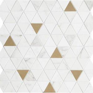 Płytka Marazzi kolekcja ALLMARBLE WALL GOLDEN WHITE SATIN MOSAICO TRIA