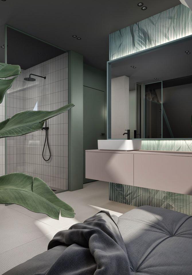 Projekt łazienki KK Architekci | ceramika Hushlab