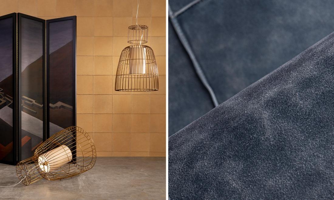 Tapety z kolekcji Les Cuirs są wykonane z 100% skóry bydlęcej