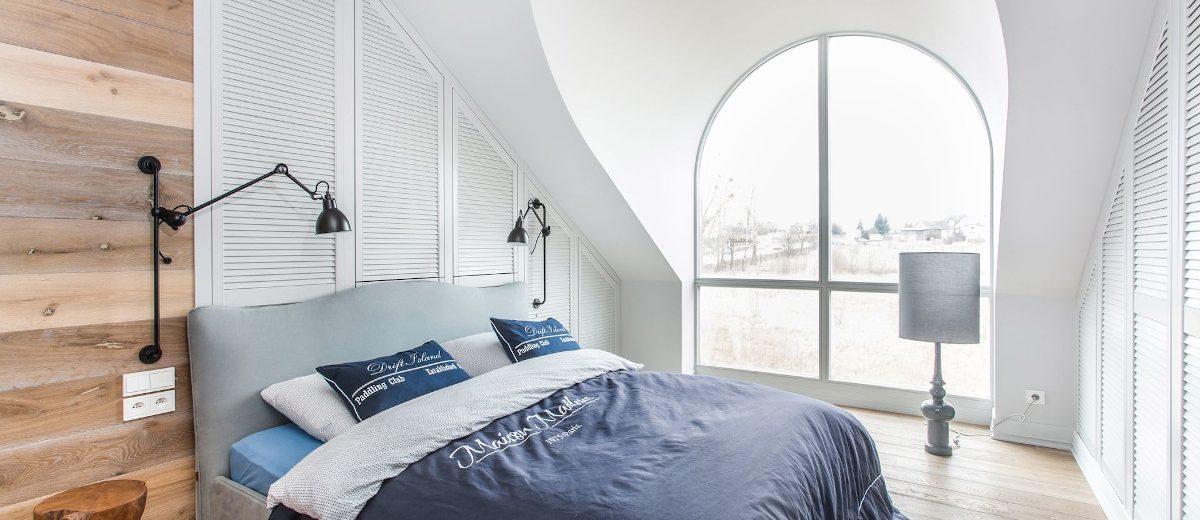 Sypialnia na poddaszu | proj. em design
