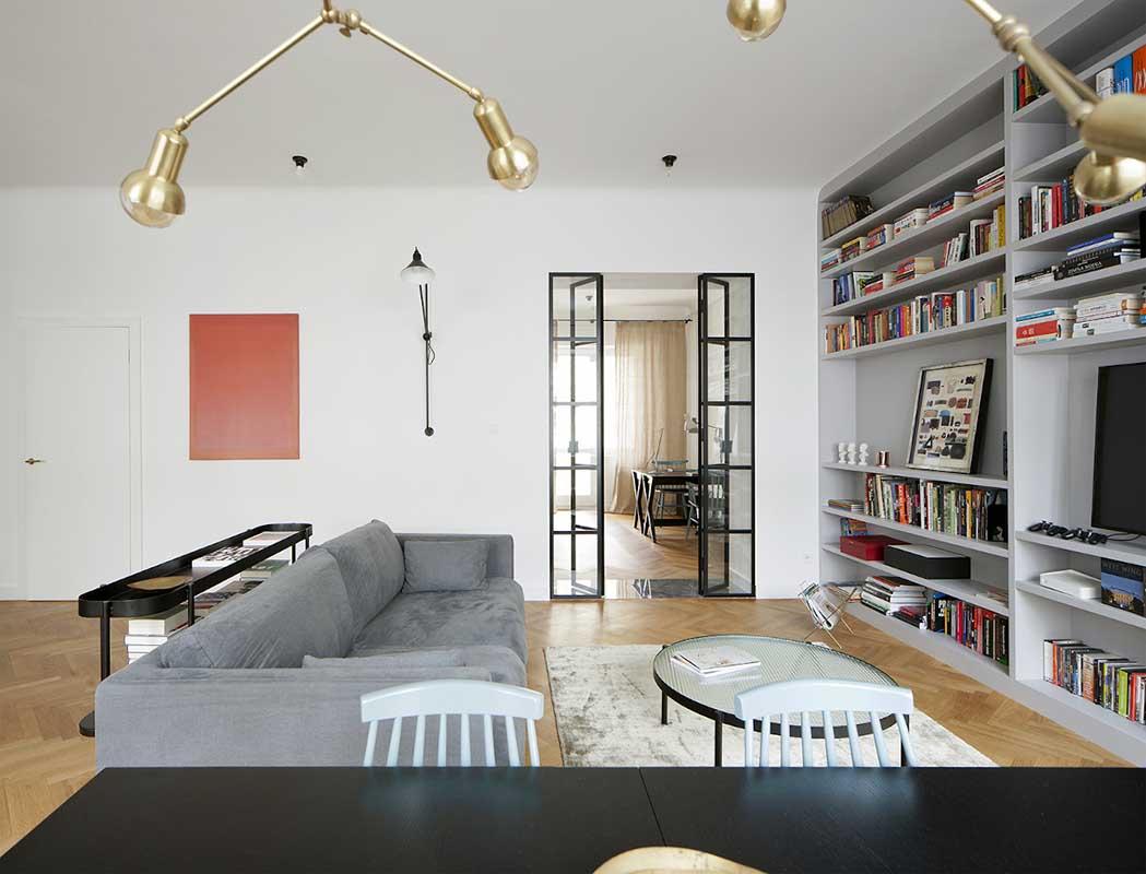 Salon otwarty na gabinet | design: MOSZCZYŃSKA PUCHALSKA STUDIO ARCHITEKTURY | fot.: PIOTRBE.COM