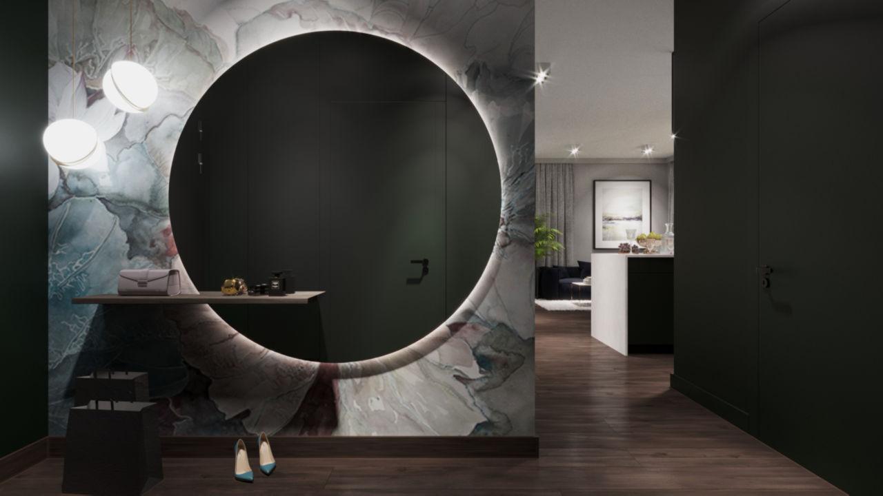 Wall & Deco w aranżacji przedpokoju | proj. Zen Interiors
