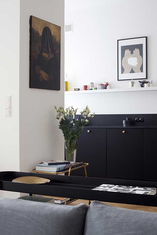 Czarna kuchnia | design: MOSZCZYŃSKA PUCHALSKA STUDIO ARCHITEKTURY | fot.: PIOTRBE.COM