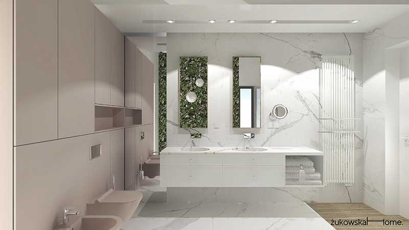 Projekt łazienki Żukowska Home