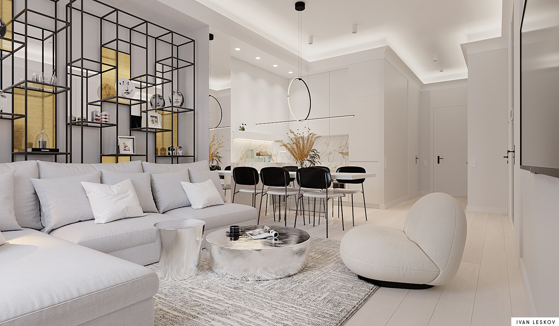 Projekt eleganckiego wnętrza Ivan Leskov Architekt