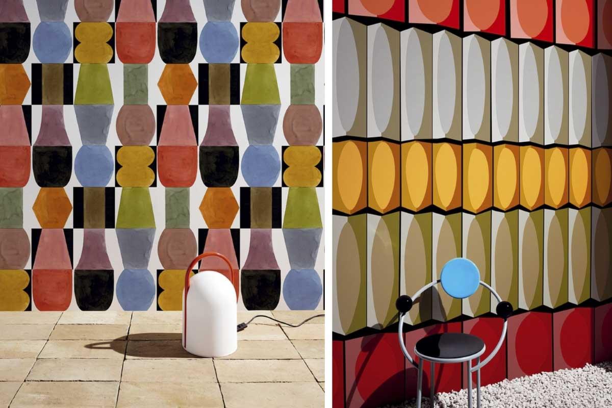 Tapety z kolekcji Contemporary 2020 od Wall & Deco inspirowane stylem Memphis Group