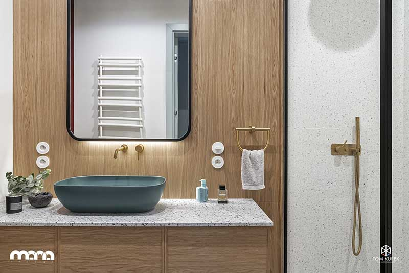Morska umywalka w projekcie Mana Design (fot. Tom Kurek)
