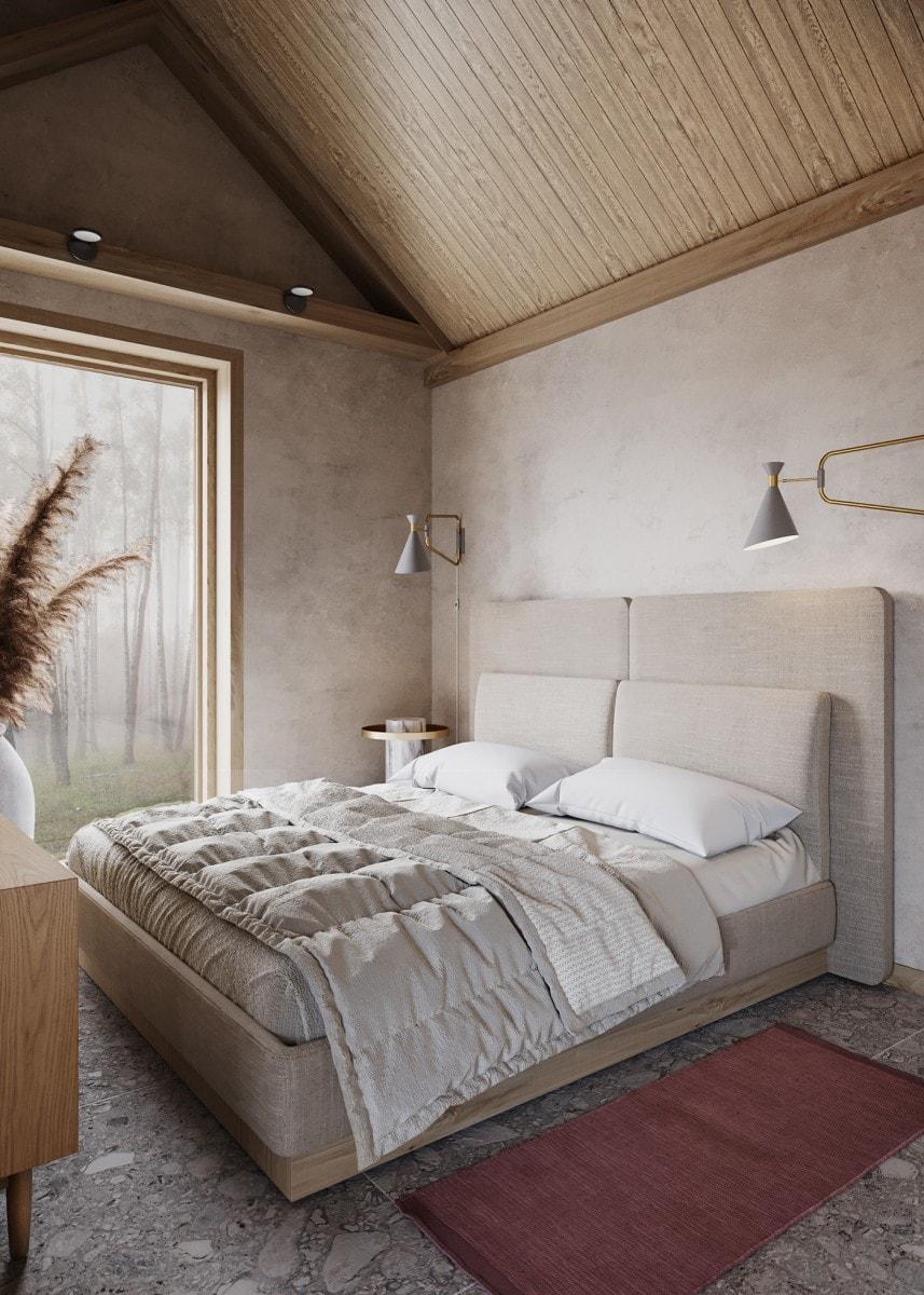 Sypialnia w stylu japandi