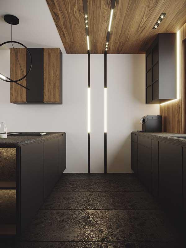 Archlines można montować na suficie i pionowo na ścianach | proj. Natalia Pęcka Dezeen Architekci