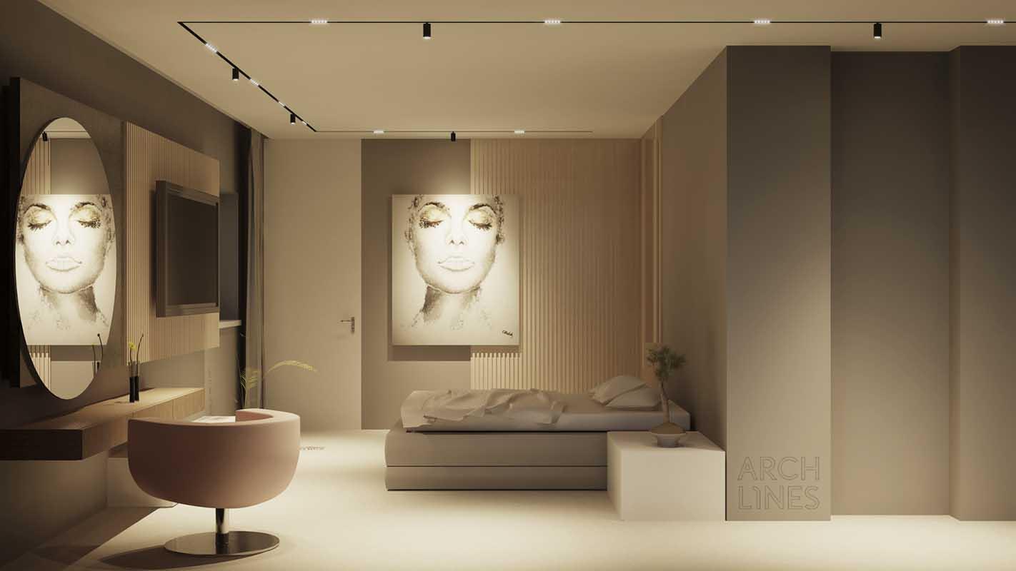 Projekt oświetlenia w sypialni