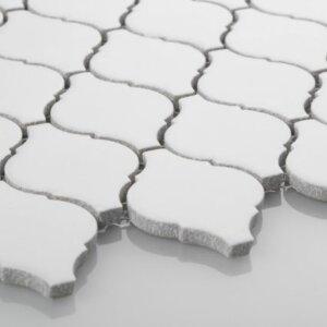 Mozaiki Raw Decor arabeska mała, biała, matowa