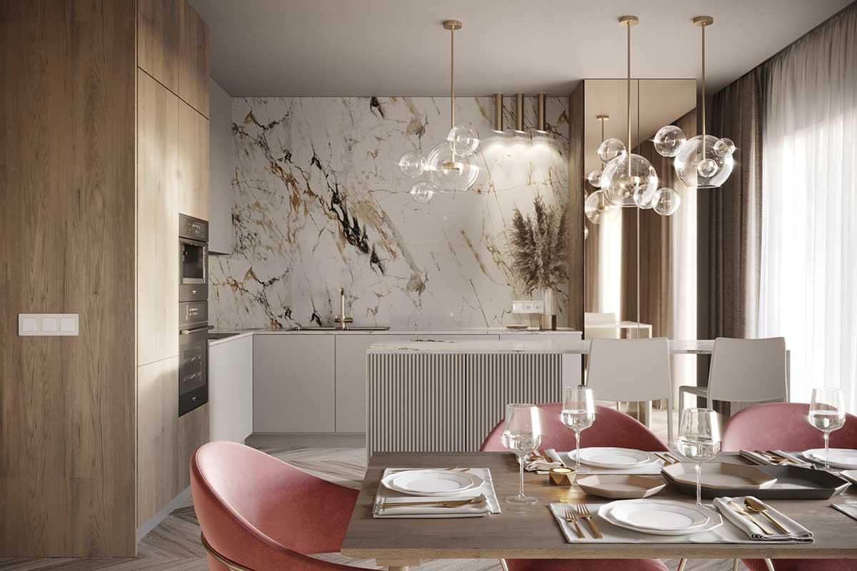 Elegancja i blask w projekcie mieszkania Ideal makers