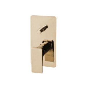 HushLab Belverde Bateria wannowo-prysznicowa podtynkowa, kolor złoty