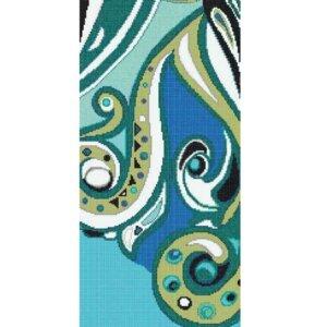 Płytki Bisazza Pizzo Blu D kolekcja Wears Emilio Pucci