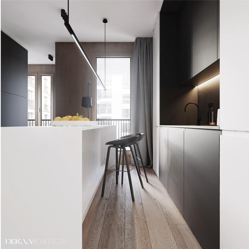 29 metrowe mieszkanie | Proj: DEKAA Architects | Bartosz Deka