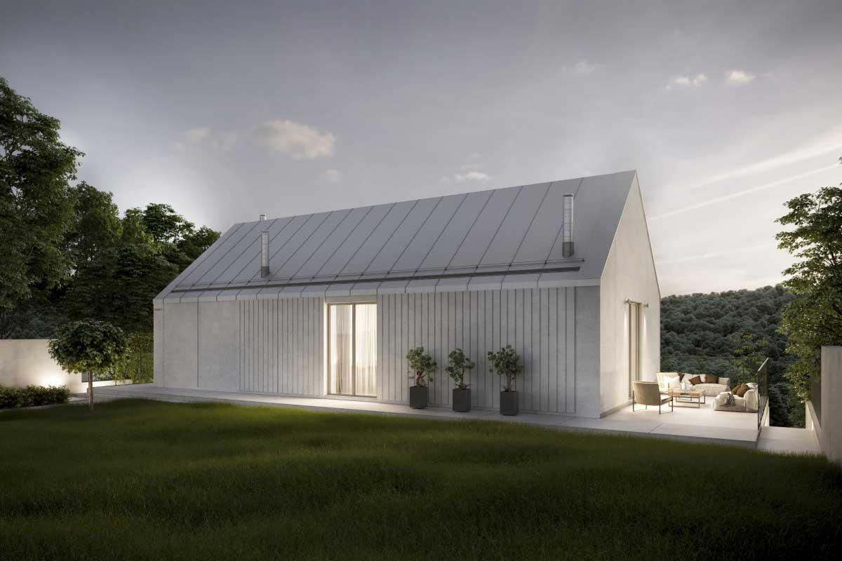 dom w typie stodoły