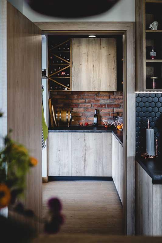 Pomieszczenie gospodarcze przy kuchni | projekt: arch. Marlena Kłos, fot.: Barbara Rompska