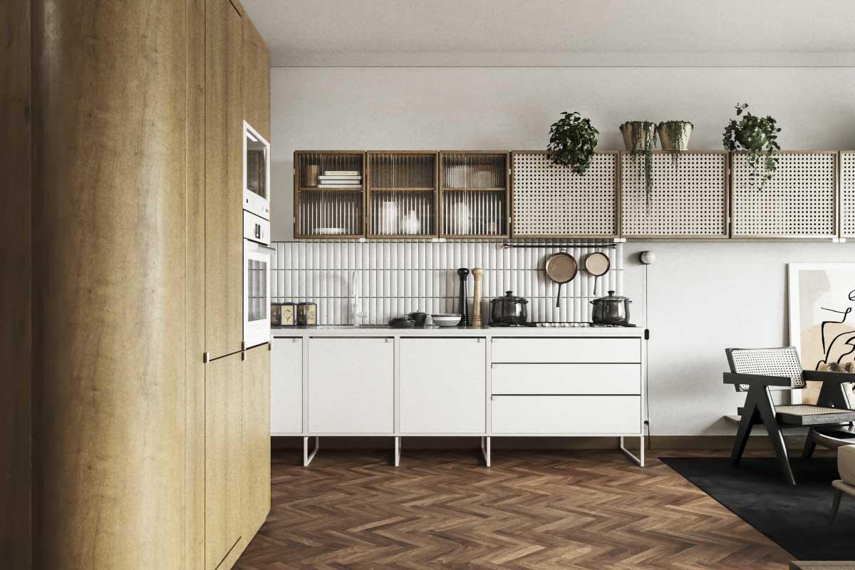 Mieszkanie na Żoliborzu inspirowane latami 60. i 70. | Proj. Noreststudio