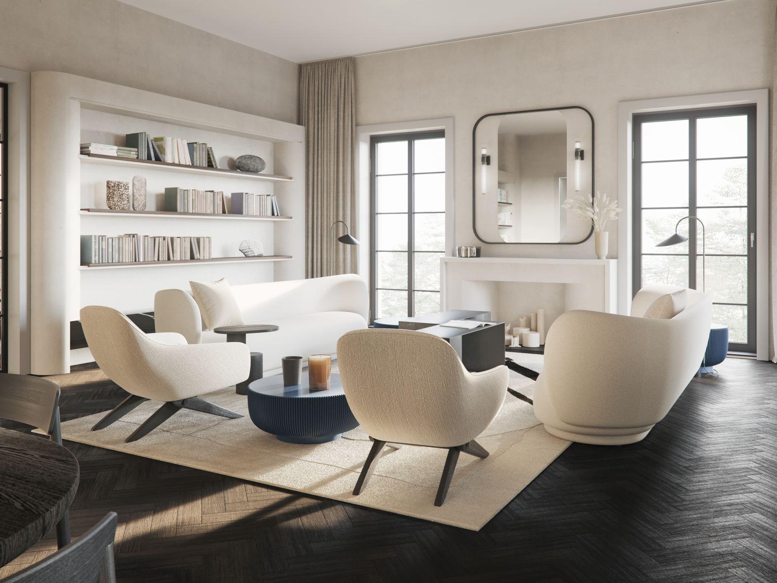 Palety beżów stwarza idealne warunki do stworzenia apartamentu w klasycznym stylu | proj. Studio.O