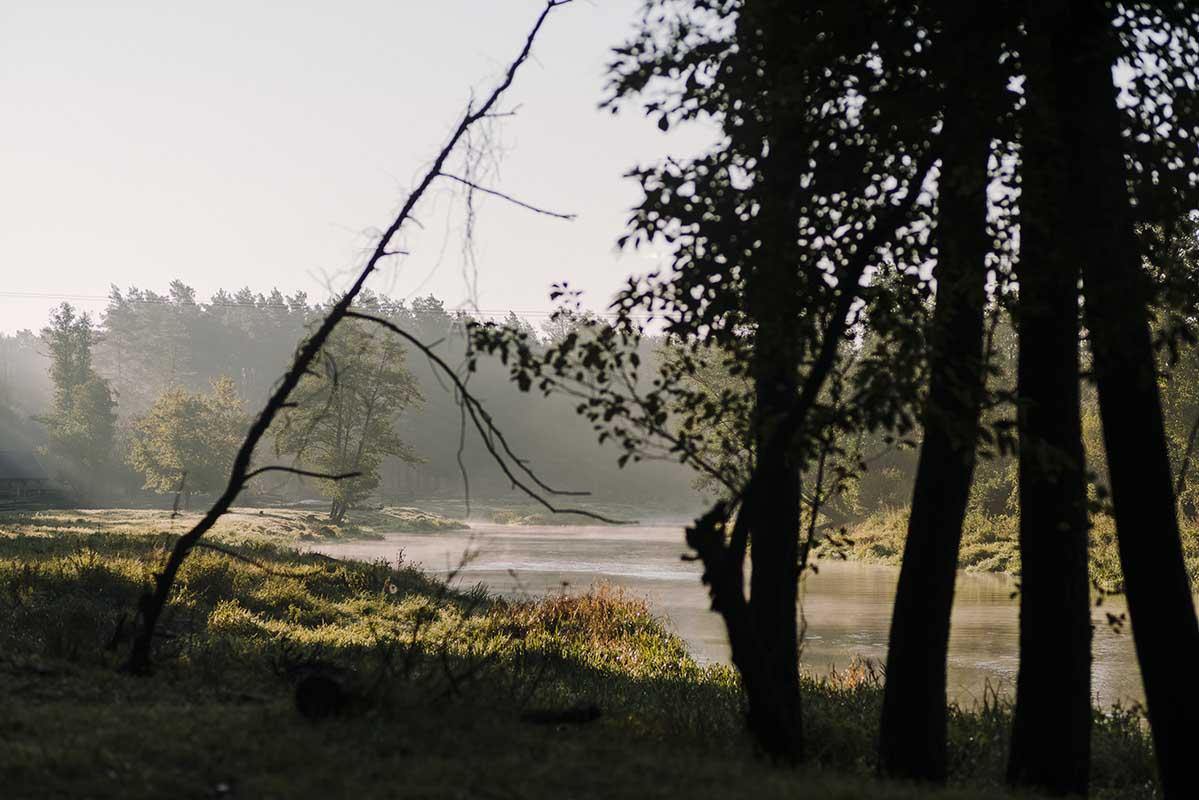 Działka znajduje się bezpośrednio przy rzece