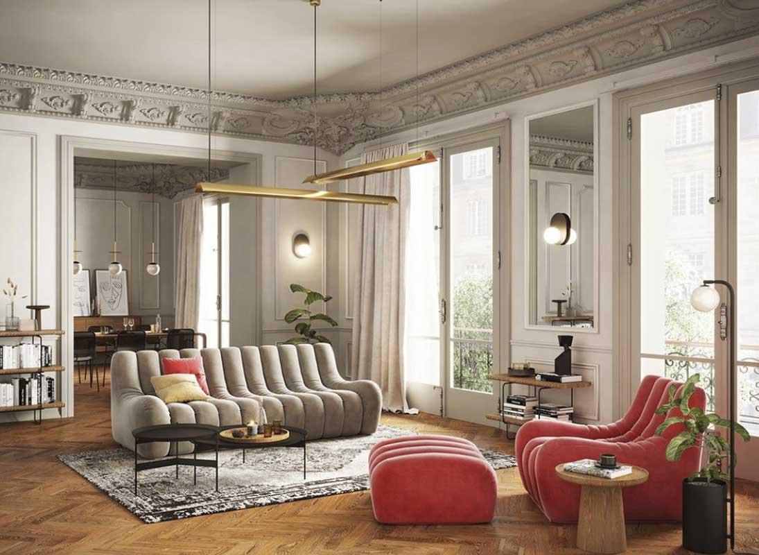 Sofa Nobonobo projekt wnętrza  Agnieszki Śmiarowskie