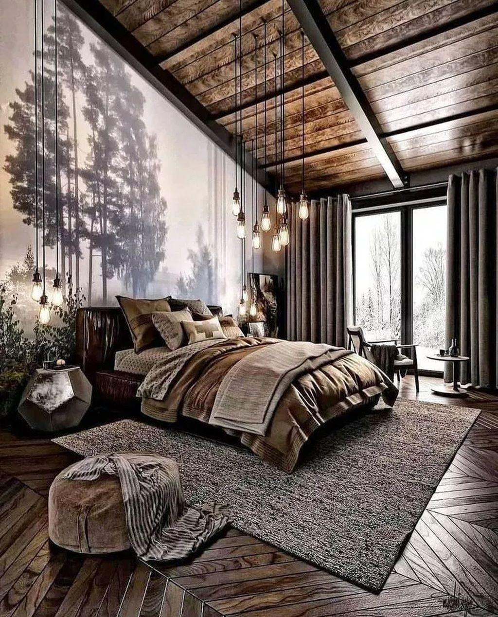 Sypialnie w loftowych wnętrzach - industrialny look