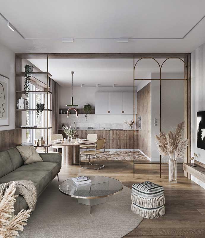 37 metrowe mieszkanie w Uppsali w Szwecji   Proj: Linie w Przestrzeni