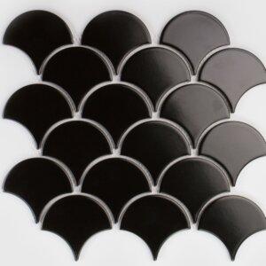 Płytki Raw Decor kolekcja FLABELLUM black matowy