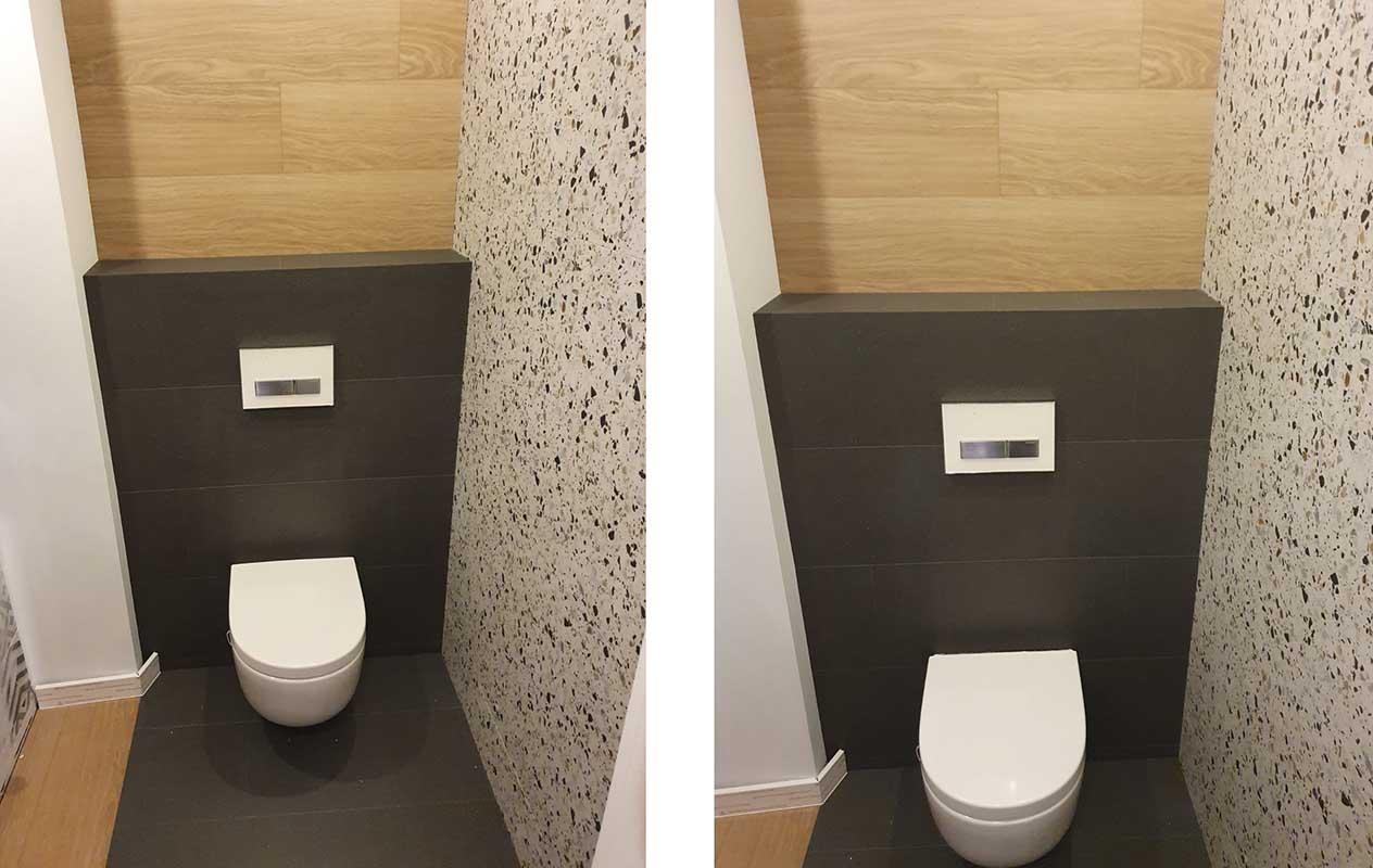 Metamorfoza małego WC w 3 godziny   Toaleta po metamorfozą