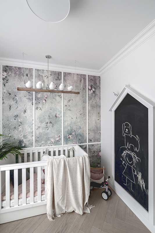 Ciekawa aranżacja ścian w pokoju dziecięcym | proj. Marika Kafar Autorska Pracownia Architektury Wnętrz
