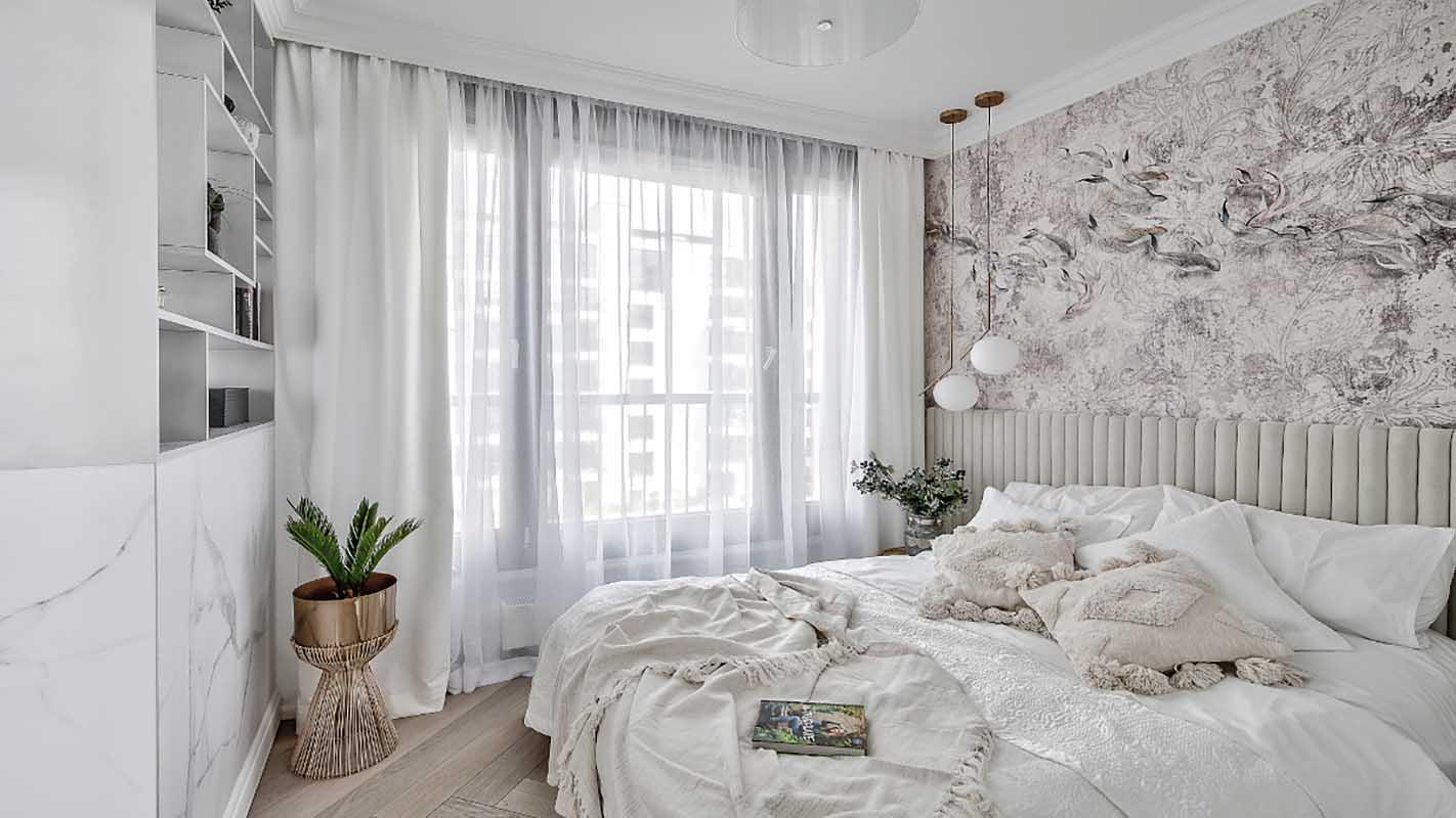 Przytulna sypialnia | proj. Marika Kafar Autorska Pracownia Architektury Wnętrz