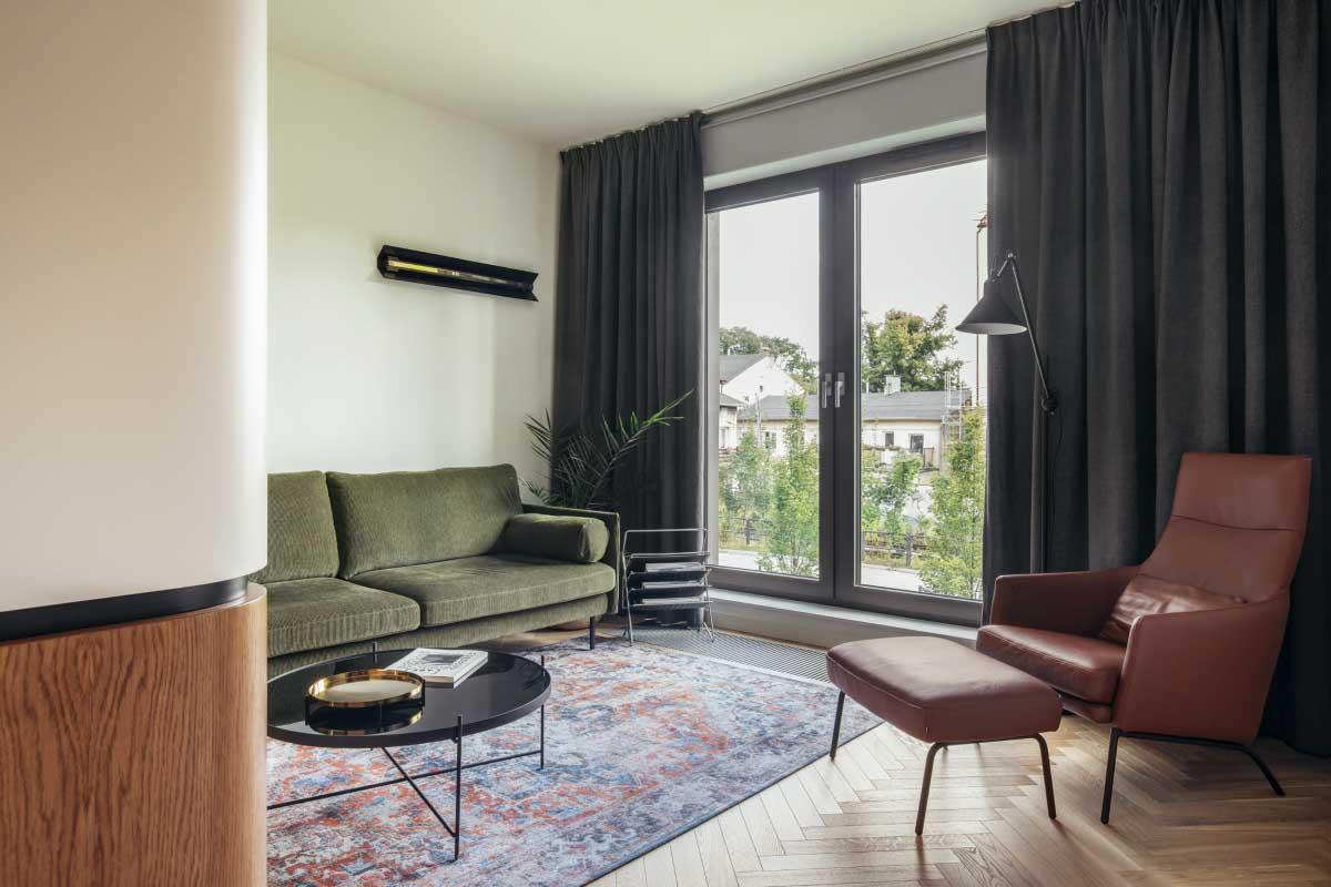 Mid-century w mieszkaniu