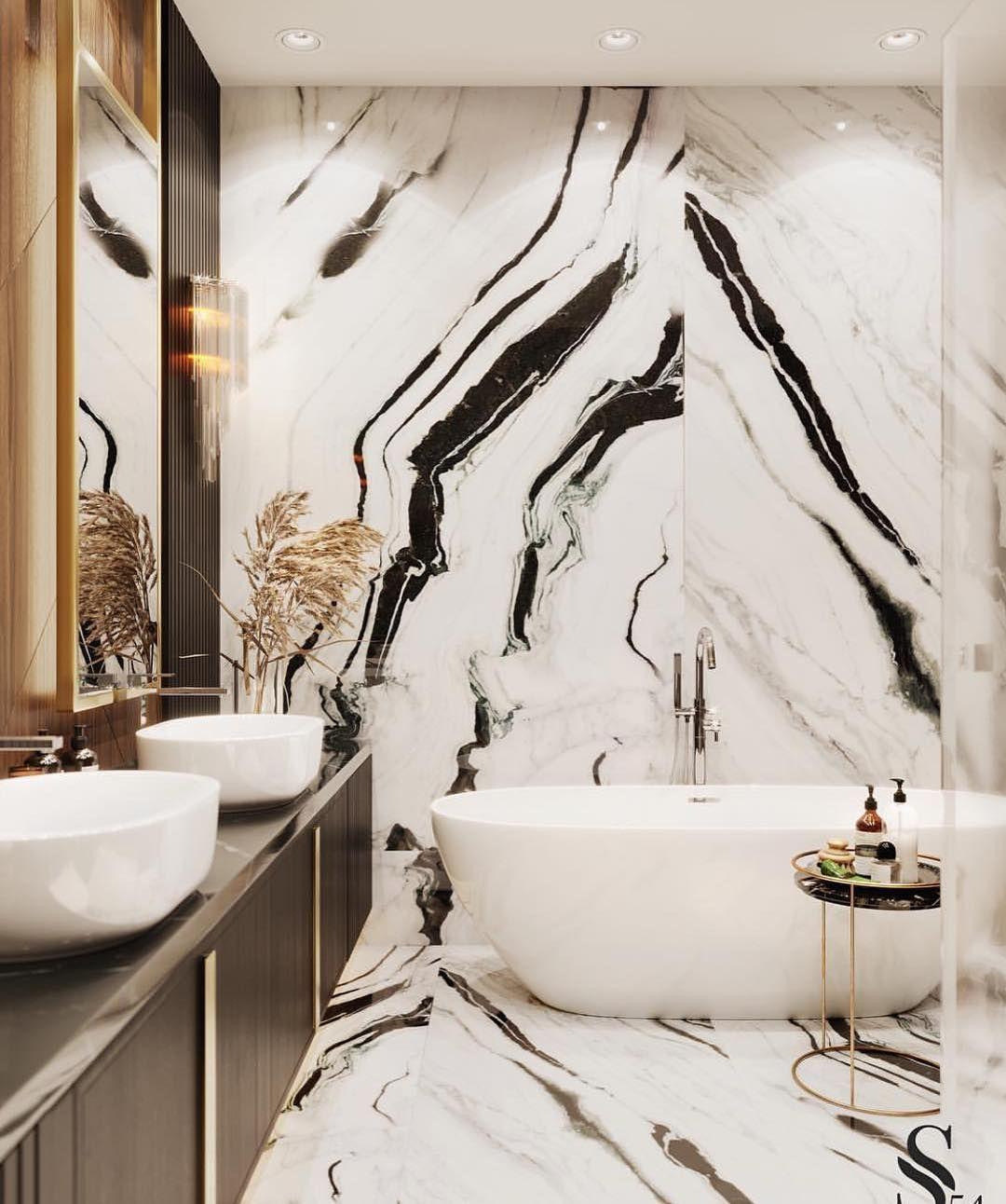Aranżacja łazienki z wykorzystaniem płytek wielkoformatowcyh