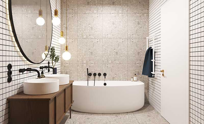 Łazienka doskonale dopasowane do rytmu życia - To Be Design Weronika Budzichowska