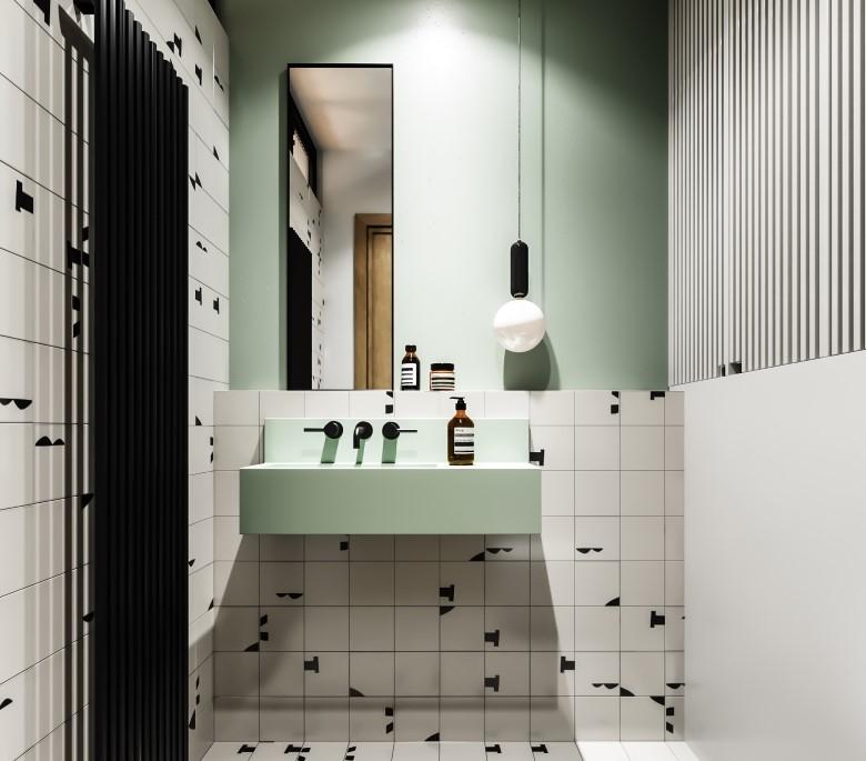 Projekt łazienki NOreststudio Projekty Wnętrz