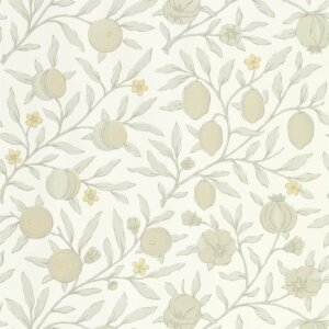 Tapeta by Morris & Co. PURE FRUIT Horned Poppy / Grey