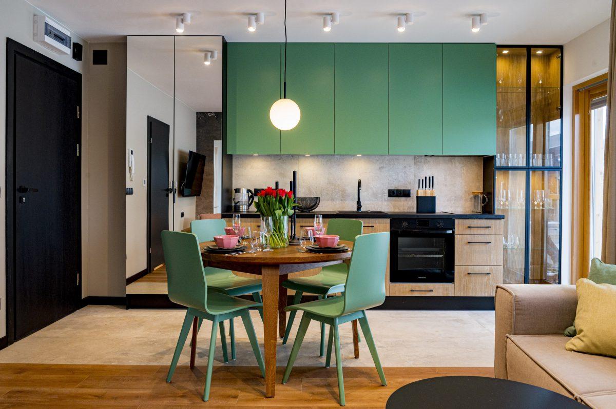 zielone mieszkanie