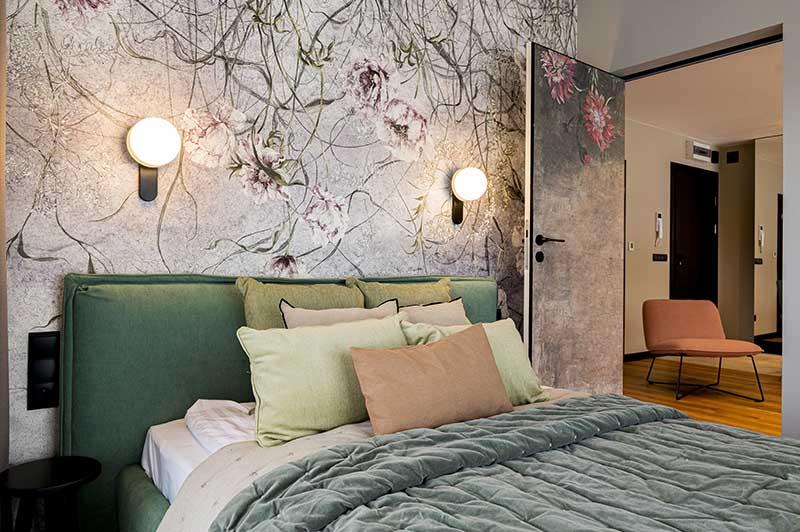 Mieszkanie w Białce Tatrzańskie w soczystej zieleni | Projekt Ewa Tarapata Architekt Wnętrz