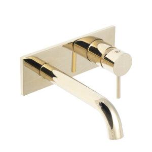 HushLab Lukka Gold Bateria umywalkowa podtynkowa Złoty błyszczący