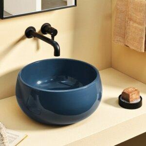 Umywalka nablatowa okrągła ceramiczna Cielo Tino