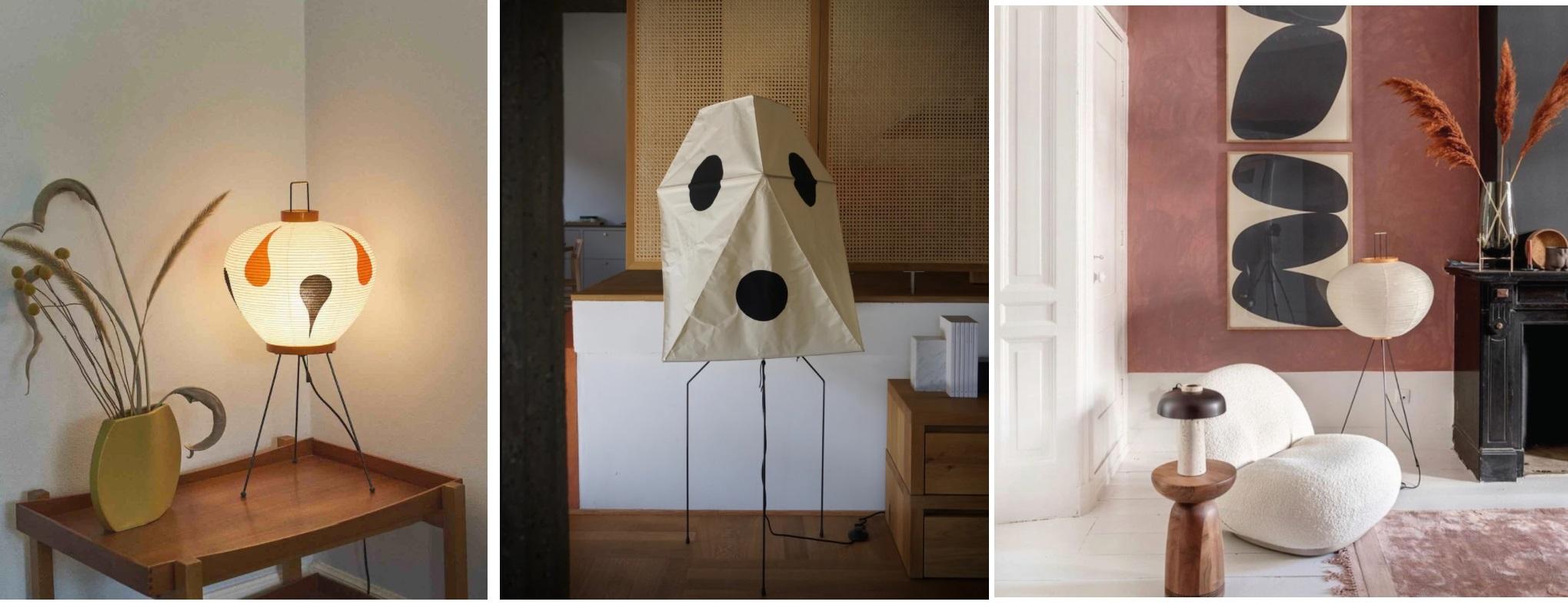 Lampy zaprojektowane przez Isamu Noguchi