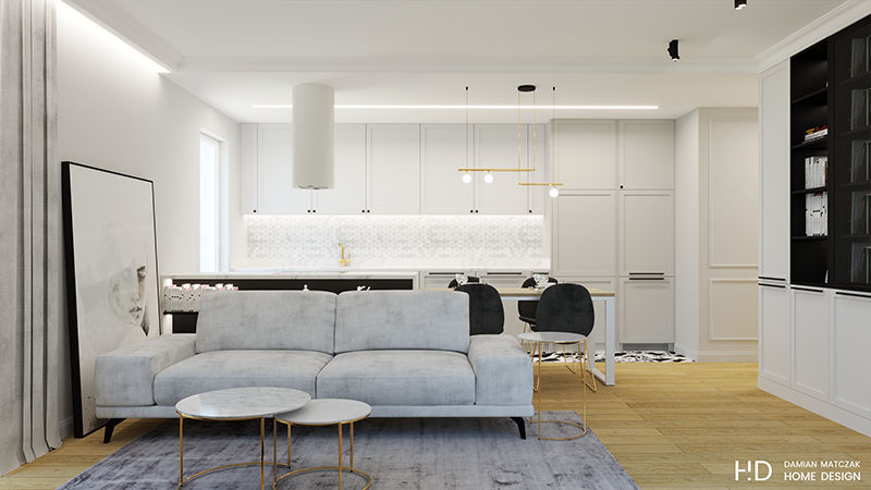 Mieszkanie w stylu nowojorskim   Proj: Damian Matczak Home Design