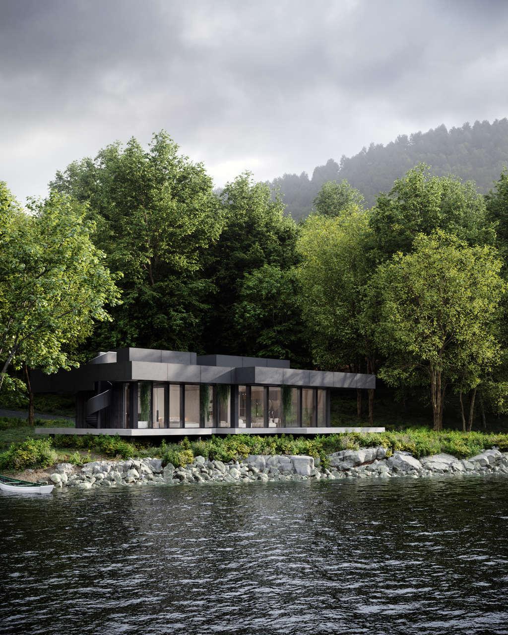 Siedlisko na brzegu jeziora   Proj: Studio Organic