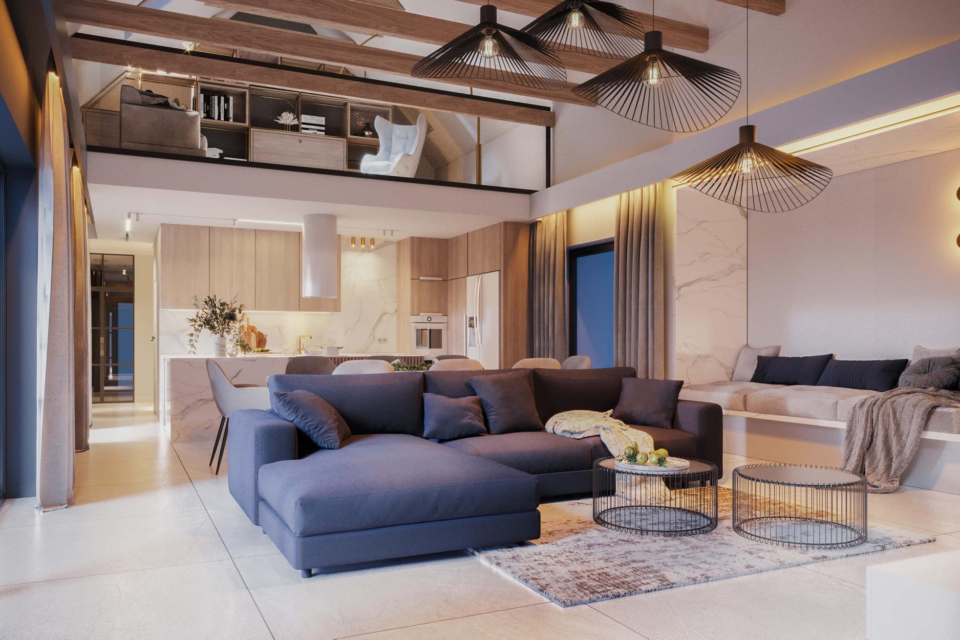 Przytulny dom w typie nowoczesnej stodoły | Proj: FOORMA Pracownia Architektury Wnętrz