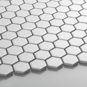 Płytka Raw Decor mozaika mały heksagon biały mat