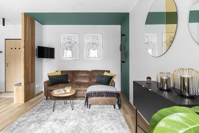 32 metrowe eleganckie mieszkanie - Apartament Stary Browar | Proj: Vzorovo