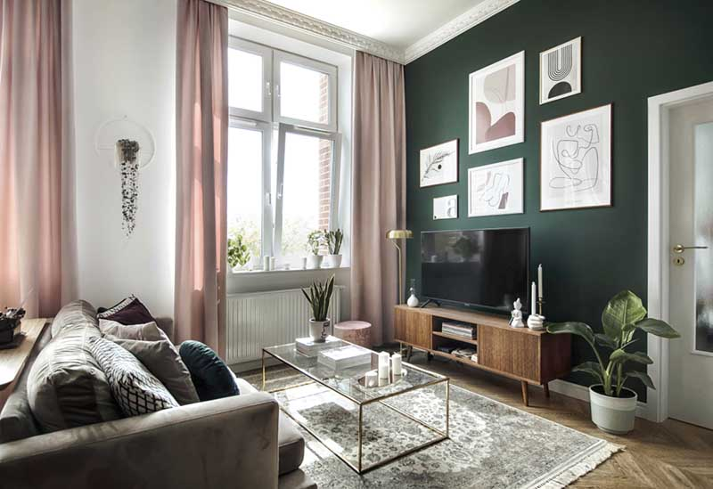 dywan perski w salonie