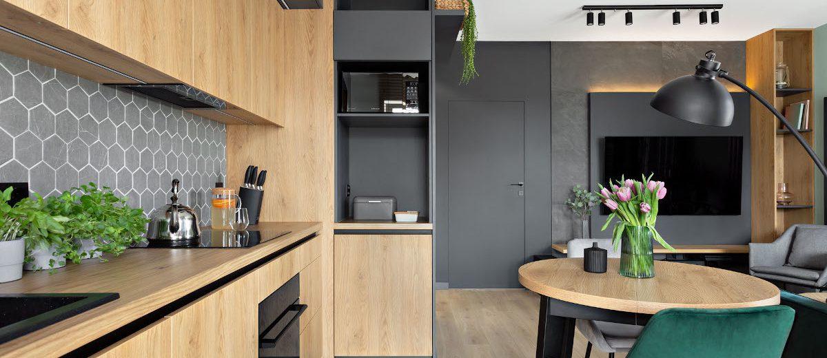 Aranżacja małego mieszkania | proj. Prosty Układ, zdj. DEKORIALOVE