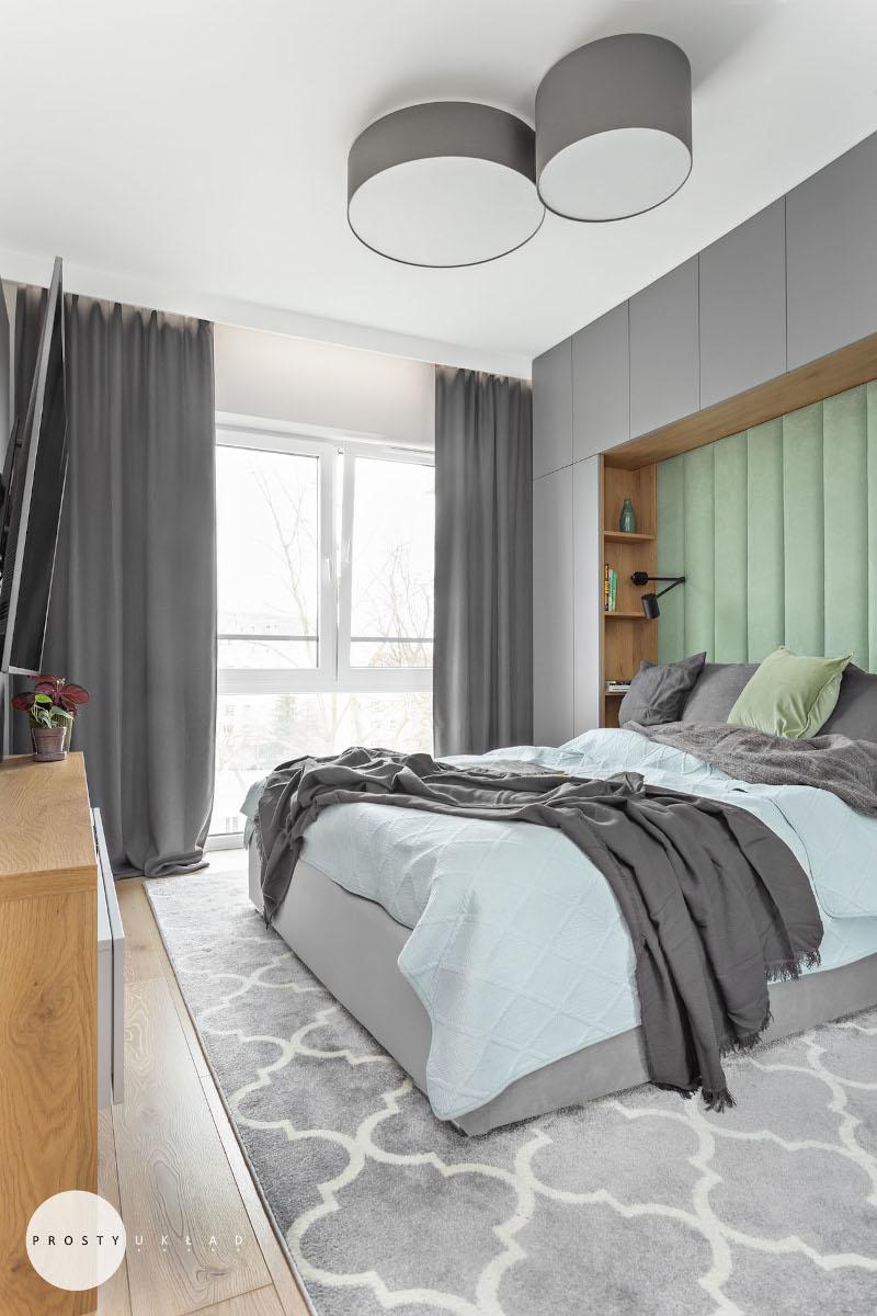 Projekt małej sypialni | proj. Prosty Układ, zdj. DEKORIALOVE