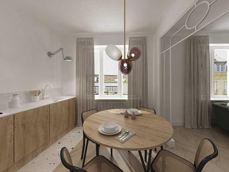 Nowe 80 metrowe wnętrze w starej kamienicy | Pro: Barbra Pilarska